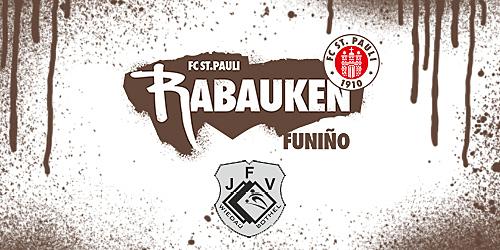 Cover-Grafic FC St. Pauli Rabauken FUNiño-Spieltag bei der JFV Wiedau Bothel (E-Jugend)
