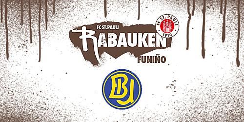Cover-Grafic FC St. Pauli Rabauken FUNiño-Spieltag beim HSV Barmbek-Uhlenhorst (E-Jugend)