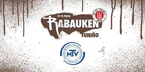 Cover-Grafic FC St. Pauli Rabauken FUNiño-Spieltag beim MTV Engelbostel-Schulenburg (F-Jugend)