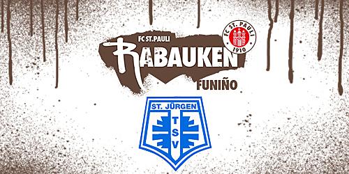 Cover-Grafic FC St. Pauli Rabauken FUNiño-Spieltag beim TSV St. Jürgen (2014er)