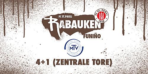 """Cover-Grafic FC St. Pauli Rabauken FUNiño-Spieltag """"4+1"""" beim MTV Engelbostel-Schulenburg (2010)"""